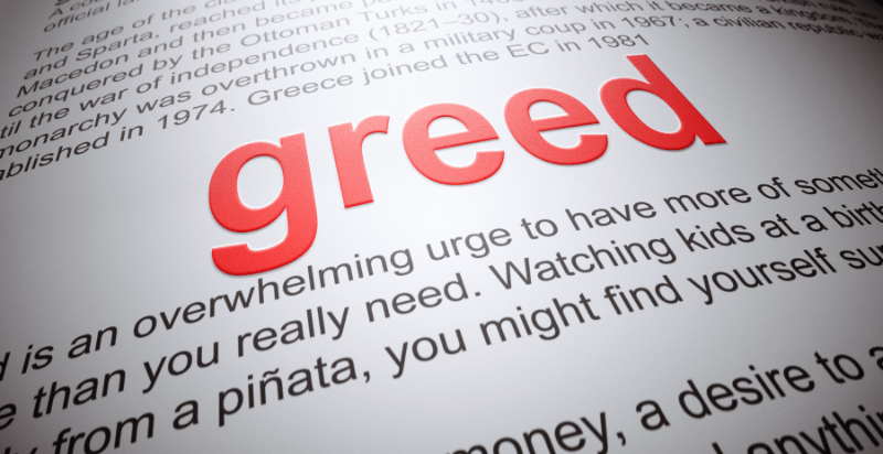 Quotes about Greed